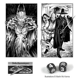 Set de dés pour jouer à Défis Fantastiques